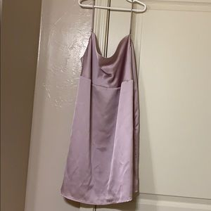 Forever 21 light pink satin dress